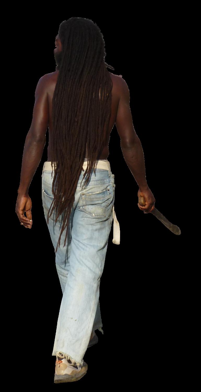 Jamaicamanshirtlesswalkingaway