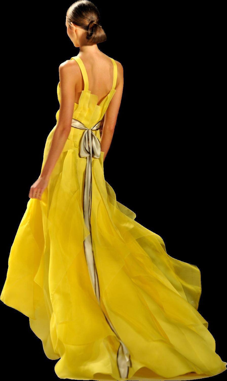 Fashionwomanyellowdress