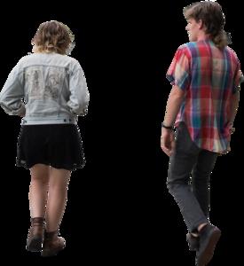 Hipsterswalkingback