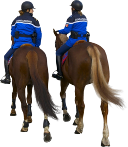 Parispolicehorsesbackriding