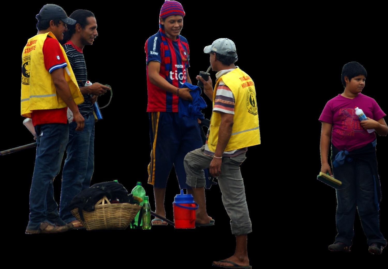 Paraguaykidstalkingstanding