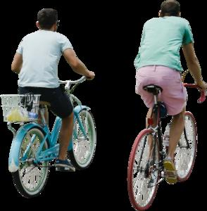 Twomenridingbikesrear