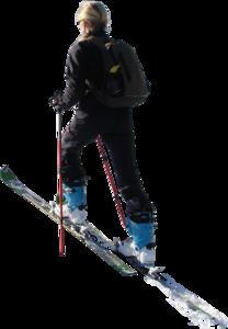 Womanskiingcrosscountrysunny