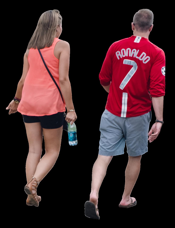 Couplewalkingsportssoccerfans